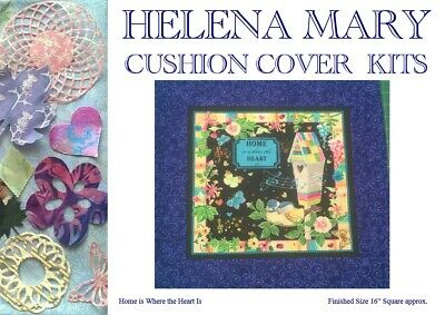 "Patchwork Kit Complete Cushion Cover Kit - Home is Where the Heart Is - 16"" Sq"