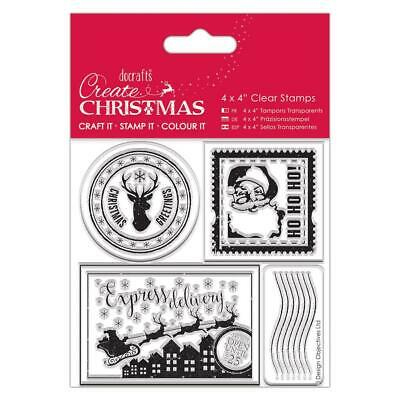 Docrafts Create Christmas 4x4 Stamps Postage Marks