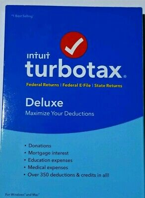 Intuit TurboTax Deluxe 2017 FEDERAL & STATE + E-FILE FOR Windows+Mac USA