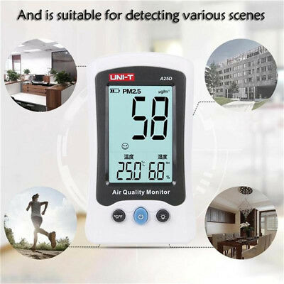 """UNI-T A25D 3.0"""" PM2.5 Detector Air Quality Analyzer Temperature Humidity Monitor"""