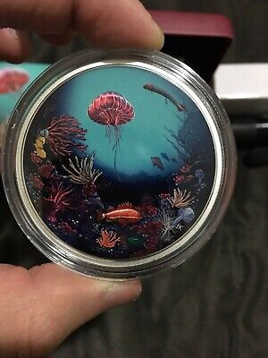 Canada 2016 $30 Illuminated Coral Reef Glow in Dark Silver Coin