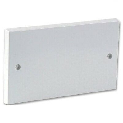 Double Gang Blanking Plate 2 Gang 2G Plug Wall Socket Cover White Faceplate