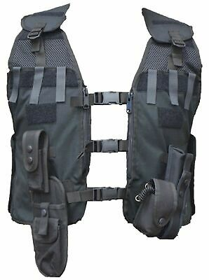Ex Police Black Remploy Frontline Hydration Tactical Vest MK2 With Pouches