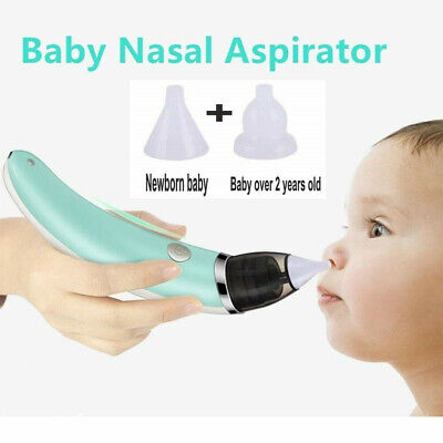 UK Electric Newborn Baby Nasal Aspirator Nose Cleaner Safe Hygienic Snot Sucker