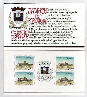 Portugal Booklet Portuguese Castles and Coats of Arms sc#1693a OG MNH** (T)