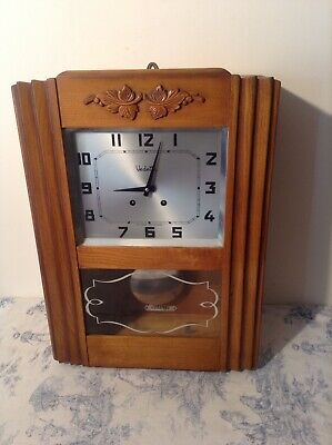 Vintage French Vedette 2 Rods & Hammers Chiming Clock (3540)