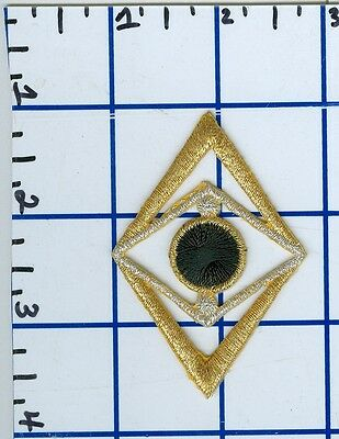 """2.5"""" Abstract Diamond Iron On Patch Sew On Glue On Embroidery Gold Metallic"""