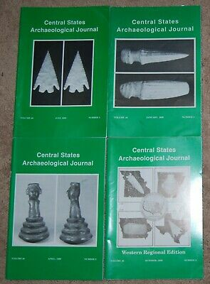 CENTRAL STATES ARCHAEOLOGICAL JOURNAL complete set Vol 46 no 1,2,3 & 4 1999