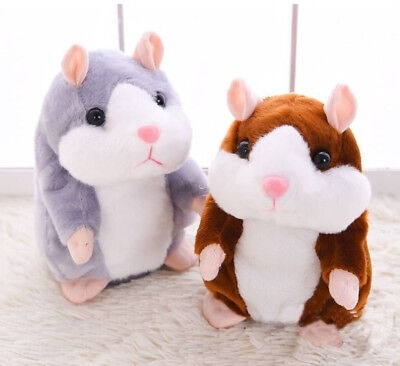 2019 Cheeky Hamster Talking Walking Nodding Sound Record Electric Toy Xmas Gift