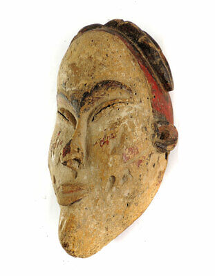 Punu Lumbo Mask White Face Gabon African Art SALE WAS $450.00