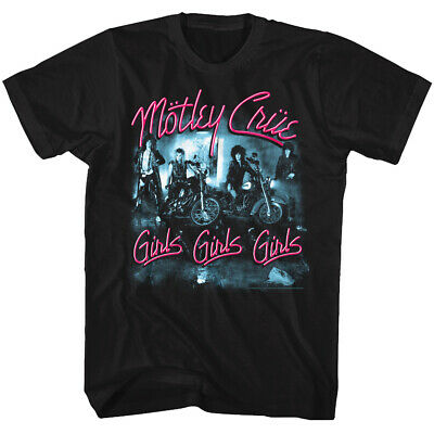 Motley Crue Girls Girls Girls Group Photo Album Cover Adult T Shirt Heavy Metal