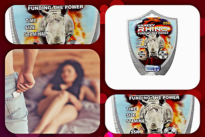 Krazzy Rhino 55K Male Enhancement Sex Pills 5 x 1 PK - Sexual Desire