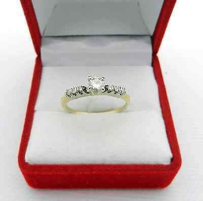 Estate 14k Yellow gold Natural Diamond 0.32 tcw Engagement Ring Insert size 7.25