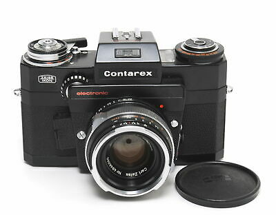 Contarex Electronic black paint with Zeiss Planar 2/50mm full working