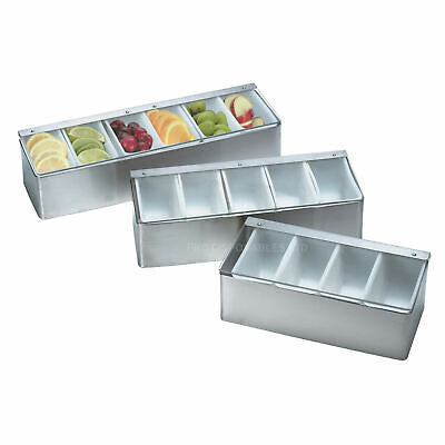 Stainless Steel Condiment Holder Bar Lime Storage Unit cocktail Drink Dispenser