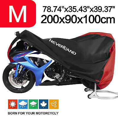 Motorcycle Scooter Cover M Size 210D Waterproof Dust Rain Protection Red&Black