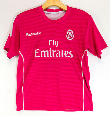 04e67c4cb REAL MADRID Fly Emirates RONALDO #7 SOCCER JERSEY PINK Futbol Shirt WOMENS  SMALL