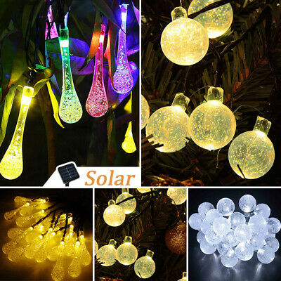 Solar Outdoor String Lights Christmas Trees Garden Party 30 LED Fairy Bulbs Lamp