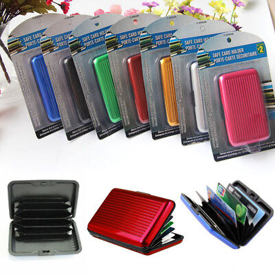 Waterproof Case Box Business ID Credit Card Wallet Holder Aluminum Metal Pocket