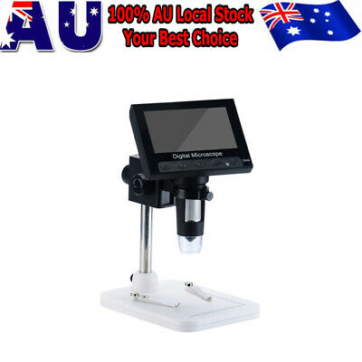 """1000X 4.3"""" LCD 720P Microscope Digital Magnifier Tool USB with Holder"""