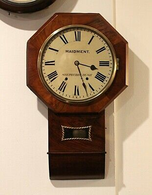 AMERICAN MADE LATE 19th CENTURY STATION OR OFFICE WALL CLOCK VERY GOOD CONDITION