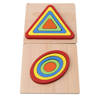 Montessori Educational Wooden Toys for Children Early Learning Puzzles Toys B