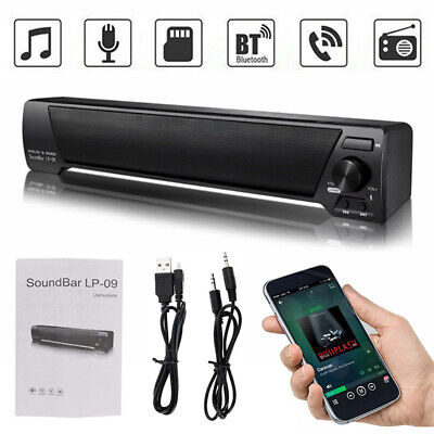 Home TV Sound Bar Theater Subwoofer Soundbar with Bluetooth Wireless / Wired UK