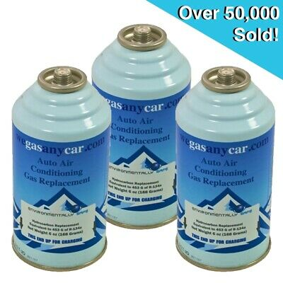 Car Aircon Air Con Air Conditioning Top Up Recharge Refill Regas Can x 3 DIY Gas