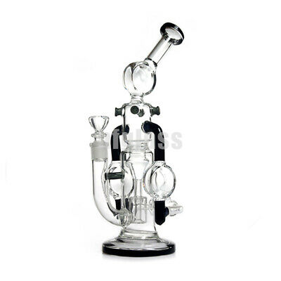 10 inches Glass Recycler Bong Percolator Glass Bong Water Pipes Smoking Hookah