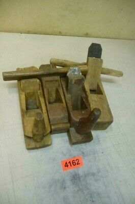 4162. 4 Stück alter Hobel Holzhobel   Old Wood Planes Working Tools