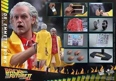 1/6 Hot Toys Mms380 Back To The Future Part Ii Dr. Emmett Brown Action Figure