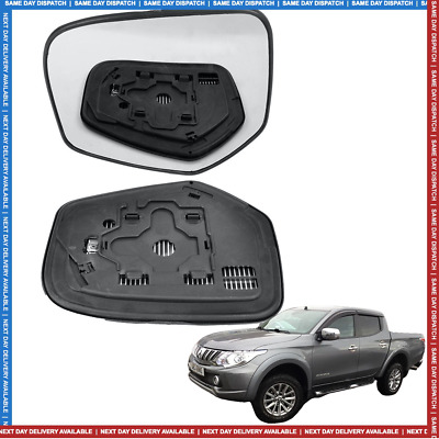 Left Passenger Side Heated Mirror Glass for Mitsubishi L200 1996-2005 0179LSH