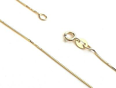 GENUINE 9ct GOLD FINE BOX CHAIN NECKLACE - VARIOUS LENGTHS AVAILABLE
