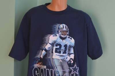 huge discount d40c5 e7b14 VINTAGE 90S T-SHIRT Deion Sanders 21 Dallas Cowboys Prime Time NFL  Superbowl Tee