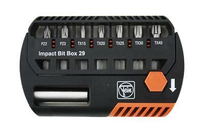 Fein 8 Piece Impact Rated Pozi & Torx Screwdriver Bits & Holder Set, 60510221010
