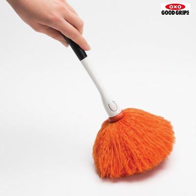 OXO Good Grips Microfibre Delicate Duster Brush Cleaner with Soft Grip Handle