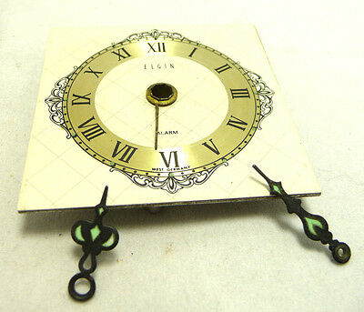 Nice condition Elgin alarm  clock dial for parts only