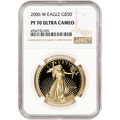 2006-W American Gold Eagle Proof 1 oz $50 - NGC PF70 UCAM