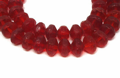 Vaseline Trade Beads Red Bohemian Africa 27 Inch