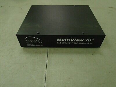 Magenta Research MultiView 9D 1x9 Cat5/UTP Distribution Amplifier Amp 4003239-03