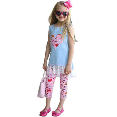 71c566dbb74 AnnLoren Baby Girls sz 2/3T High Low Fashion Heart Boutique Spring Outfit