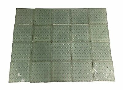 Antique Green Scalloped 6 in. Fireplace Surround Tile Set