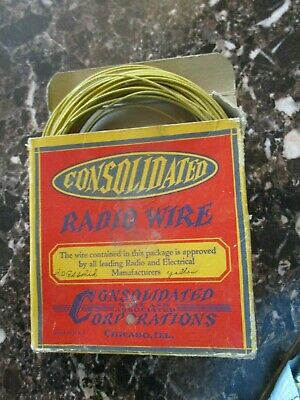 Vtg boxed CONSOLIDATED RADIO WIRE Consolidated Wire & Associated Corps Chicago