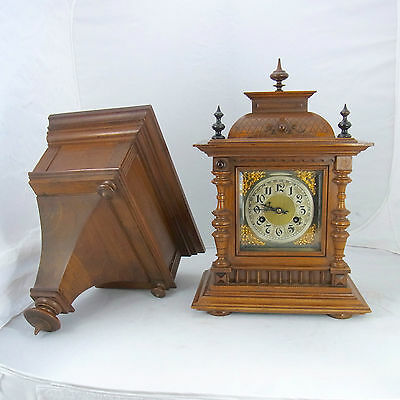 Table Clock Junghans Approx. um 1900 with Matching Console