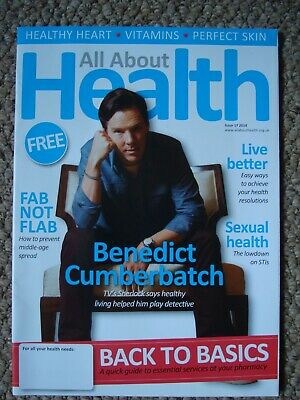 BENEDICT CUMBERBATCH Health magazine COVER & 2 PAGE ARTICLE
