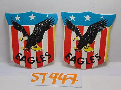 2 Vintage 1960'S Felt Patch Hippie Cool Us Flag Shield With Eagle America