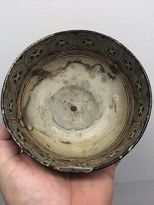 Colorful Painted Pottery Bowl Mayan Pre Columbian Mexico