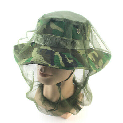 Mesh Bug Head Net Camping Midge Insect Protector Mosquito Hat Travel Face Bush