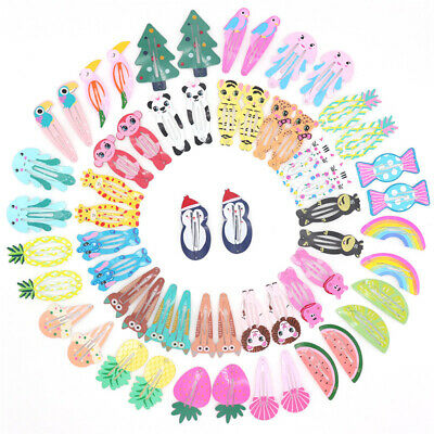 Girls Baby Kids Hair Clips Snaps Slides Hairpin Grip Barrette Hair Accessories