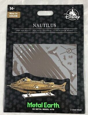 Disney Parks Nautilus In Color Metal Earth 3D Model Kits NEW